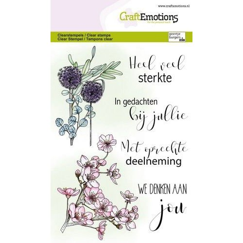 CraftEmotions CraftEmotions clearstamps A6 - bloemen condoleance (NL) GB