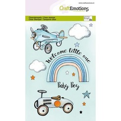 CraftEmotions clearstamps A6 - Babyboy (ENG) GB