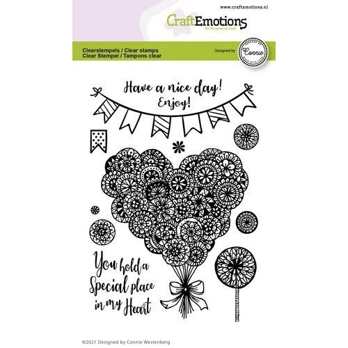 CraftEmotions CraftEmotions clearstamps A6 - hart - Special place in my heart Connie Westenberg