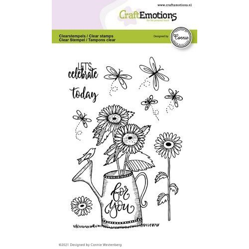CraftEmotions CraftEmotions clearstamps A6 - gieter - For you Connie Westenberg