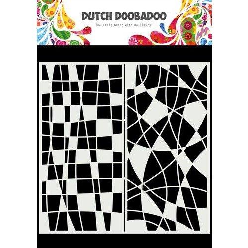 Dutch Doobadoo Dutch Doobadoo Mask Art Slimline Mozaiek lijnen 470.715.824 210x210mm