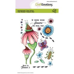CraftEmotions clearstamps A6 - Bugs & flowers 2 Carla Creaties