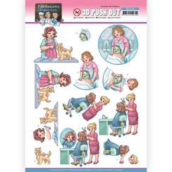 SB10549 - Uitdrukvel - Yvonne Creations - Bubbly Girls Professions  - Beautician