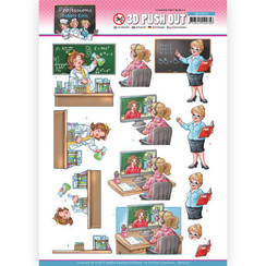 SB10550 - Uitdrukvel - Yvonne Creations - Bubbly Girls Professions - Teacher