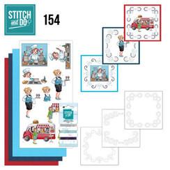 STDO154 - Stitch en Do 154 - Yvonne Creations - Bubbly Girls - Professions