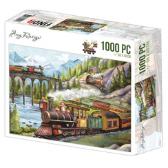 ADPZ1014 - Jigsaw puzzel 1000 stukjes  - Amy Design -Trains