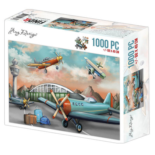 ADPZ1013 - Jigsaw puzzel 1000 stukjes  - Amy Design -Planes