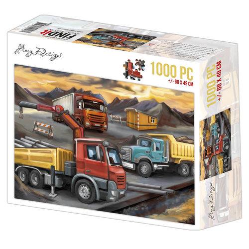 ADPZ1015 - Jigsaw puzzel 1000 stukjes  - Amy Design -Lorries