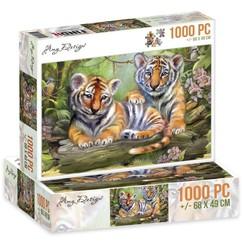 ADPZ1012 - Jigsaw puzzel 1000 stukjes  - Amy Design -Tigers
