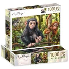 ADPZ1011 - Jigsaw puzzel 1000 stukjes  - Amy Design -Monkeys