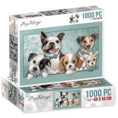 ADPZ1006 - Jigsaw puzzel 1000 stukjes  - Amy Design -Dogs