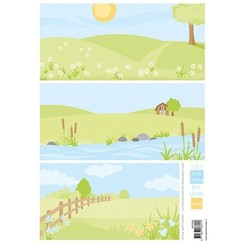 AK0086 - Elines backgrounds pastel meadows