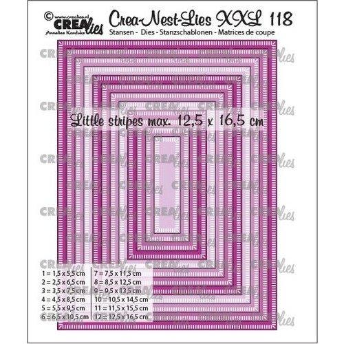 Crealies Crea-nest-dies XXL Rechthoeken CLNestXXL118 12,5x16,5cm