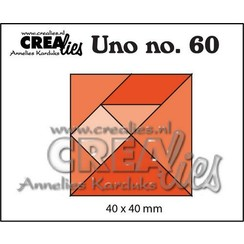 Crealies Uno nr. 60  Tangram CLUno60 40x40mm