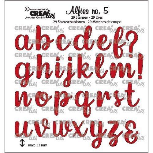 Crealies Alfies no. 5 Kleine letters CLALF05 33mm