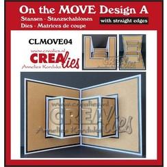 Crealies On The Move Design A rechte randen CLMOVE04 13,5x27cm