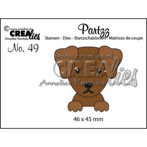 Crealies Partzz Hond CLPartzz49 46x45mm