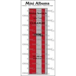 Crealies stans Mini Albums  Bindsysteem A (rug:7mm) glad CLMAXL07 59x208mm