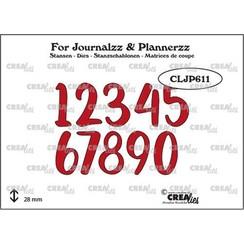 Crealies Journalzz & Pl Stans cijfers no. 5 CLJP611 28mm