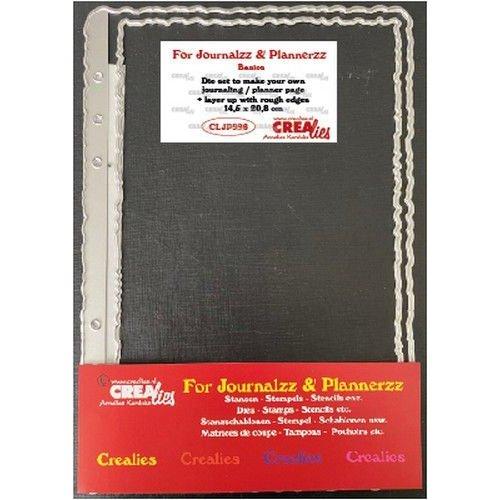 Crealies Journalzz & Pl Stans plannerpagina Ruwe randen CLJP996 14,5x20,8cm