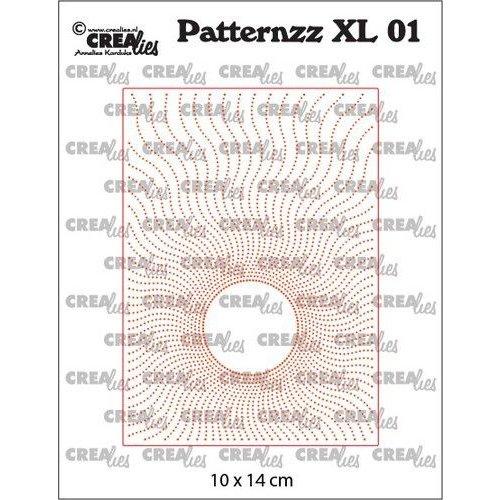 Crealies Patternzz XL Zon in stippen CLPATXL01 10x14cm