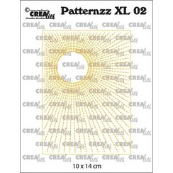 Crealies Patternzz XL Zon in stiklijn CLPATXL02 10x14cm