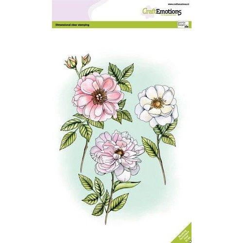 CraftEmotions clearstamps A5 - Rozen en takken GB Dimensional stamp