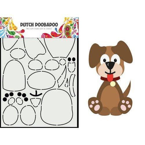 Dutch Doobadoo Dutch Card Art Built up Hondje A5 470.713.866 21x14,8cm