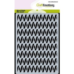 CraftEmotions Mask stencil zigzag A6