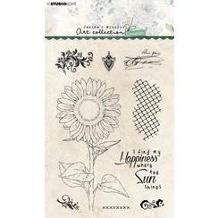 Studio Light Clear Stamp Jenines Essentials Sunflower nr.66 JMA-ES-STAMP66 A6