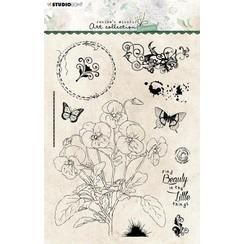 Studio Light Clear Stamp Jenines Essentials Violets nr.67 JMA-ES-STAMP67 A5