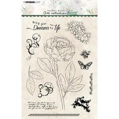 Studio Light Clear Stamp Jenines Essentials Peony nr.68 JMA-ES-STAMP68 A5
