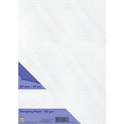 Nellies Choice Stempel papier 10st wit STPA002 A4 180 gr