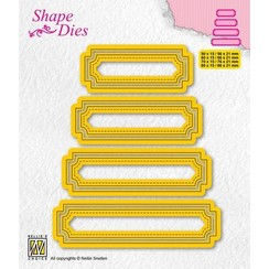 Nellies Choice Shape Die - set van 4 tags - 5 SD206 80x15mm
