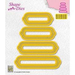 Nellies Choice Shape Die - set van 4 tags - 6 SD207 80x15mm