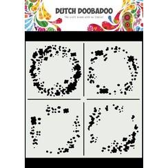 Dutch Doobadoo Mask Art 15x15cm Circle Grunge