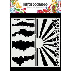 Dutch Doobadoo Dutch Mask Art Slimline Wolken