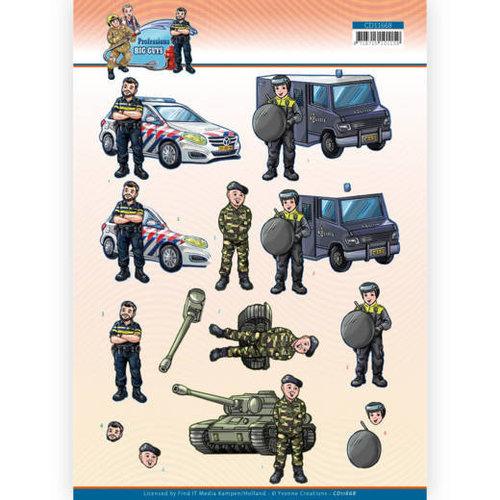 Yvonne Creations CD11668 - 10 Stuks Knipvel - Yvonne Creations - Big Guys Professions - Police