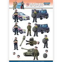 SB10552 - Uitdrukvel - Yvonne Creations - Big Guys Professions - Police