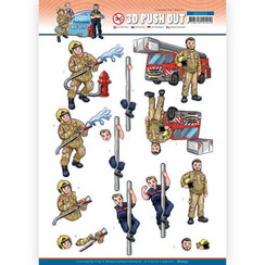 SB10553 - Uitdrukvel - Yvonne Creations - Big Guys Professions - Fire department