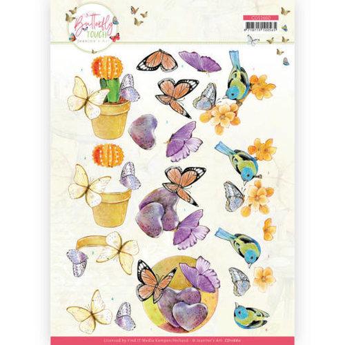 CD11660 - 10 stuks knipvel - Jeanine's Art - Butterfly Touch - Orange Butterfly