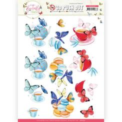 SB10543 - Uitdrukvel - Jeanine's Art - Butterfly Touch - Blue Butterfly