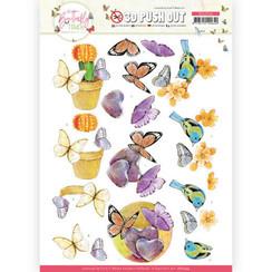 SB10544 - Uitdrukvel - Jeanine's Art - Butterfly Touch - Orange Butterfly