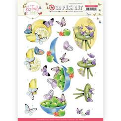SB10545 - Uitdrukvel - Jeanine's Art - Butterfly Touch - Purple Butterfly