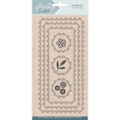 CDECD0105 - Card Deco Essentials - Slimline Dies - Slimline Flowers
