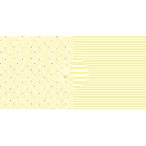 Dini Design Scrappapier 10 vl citroenen - strepen 30,5x30,5cm #4021