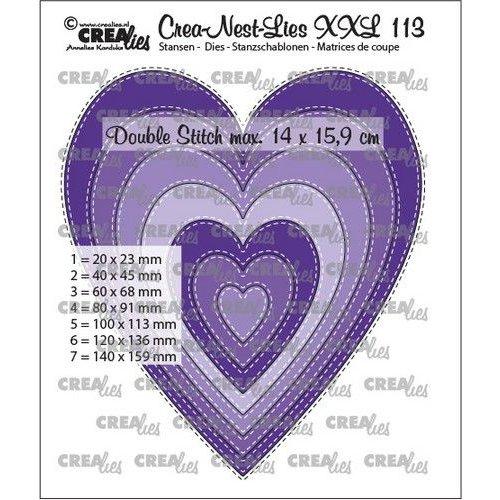 Crealies Crea-nest-dies XXL Slanke harten CLNestXXL113 14x15,9cm