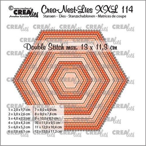 Crealies Crea-nest-dies XXL Zeshoeken CLNestXXL114 13x11,3cm