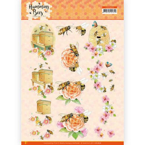 CD11676 - 10 stuks 3D Knipvel -  Jeanines Art - Humming Bees - Beehive