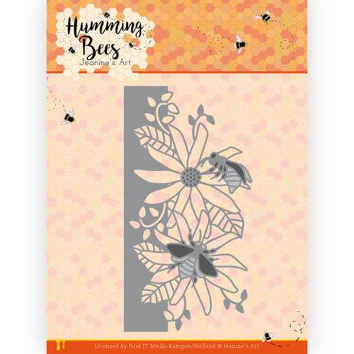 JAD10126 - Mal - Jeanines Art - Humming Bees - Flower Border